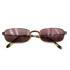 Nautica Purple Metal Rectangle Sunglasses Frames